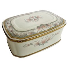 Beautiful Noritake Bone China Barrymore Pattern Box