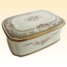 Beautiful Noritake Bone China Barrymore Pattern Box