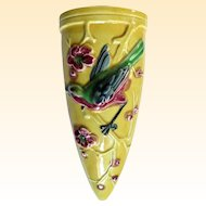 An Appealing Art Deco Made in Japan Bird and Floral Wall Pocket