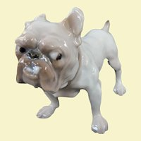 A Rare Little Bing & Grøndahl Porcelain Bulldog