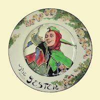 "Vintage Royal Doulton ""The Jester"" Cabinet Plate D6277"