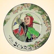 "Vintage Royal Doulton ""The Jester"" Cabinet Plate D6277"