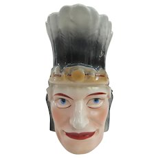An Interesting Antique American Indian Head Pitcher From Austria Circa 1900