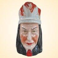 An Excellent Antique German Porcelain American Indian Pitcher Circa 1900