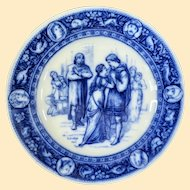 Antique Wedgwood Flow Blue Plate Ivanhoe 1883