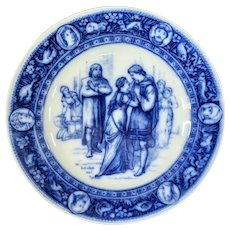 Antique Wedgwood Flow Blue Plate Ivanhoe 1883