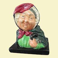 Royal Doulton Dickens Character Small Sairey Gamp Bust