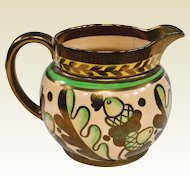 1940s Wade English Lustreware Pitcher, Harvest Ware