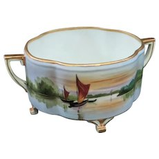 A Pretty Nippon Footed Cache Pot or Jardiniere