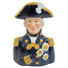 Wood and Sons Admiral Lord Nelson Toby Mug C1960s
