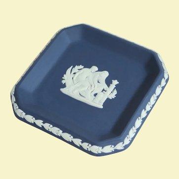 Attractive Royal Blue Wedgwood Trinket Dish