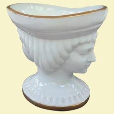 Unique Two Faces Porcelain Master Salt Cellar
