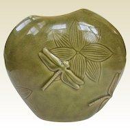 Vintage Art Nouveau Inspired Dragonfly Vase
