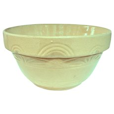 A Very Large Old Yellow Ware Mixing Bowl