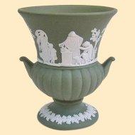 Vintage Sage Green Wedgwood Miniature Urn 1970s