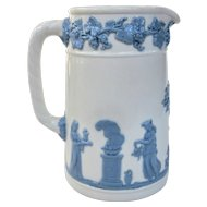 A Vintage Wedgwood Queensware Pitcher Lavender on Cream