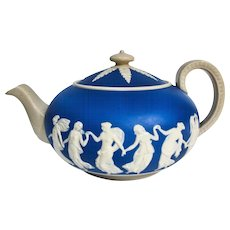 Beautiful Copeland Late Spode Jasperware Teapot, 1892
