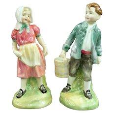Vintage Royal Doulton Figurines Jack & Jill HN 2060 & 2061