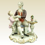 Colorful Franz Wittwer Dresden Group Father Instructing Son