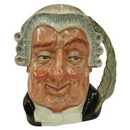 "Royal Doulton Character Jug ""The Lawyer"" D6498 Issued 1959 to 1996"