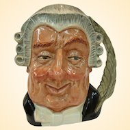 """Royal Doulton Character Jug """"The Lawyer"""" D6498 Issued 1959 to 1996"""