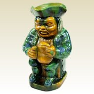 A Rare Antique Majolica Grimacing Tavern Toby Mug