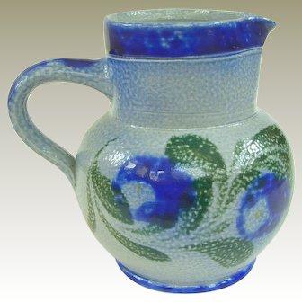Vintage French Gres d'Alsace Salt Glazed Stoneware Pitcher