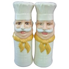 1970s Large Chef Salt And Pepper Shakers