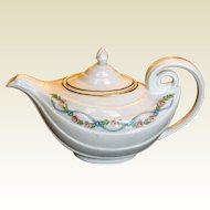 Hall Aladdin Wildfire Teapot and Lid Gold Trim 1932 to late 1960s