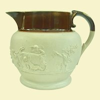 An Early Adams Caneware Sprigged Milk Jug, Circa 1806-1812