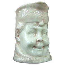 A Fine German Porcelain Toby Style Figural Creamer