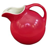 Great Hall China Fire Engine Red Ball Shaped Pitcher