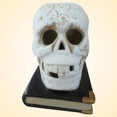 Spooky Vintage Ceramic Light Up Skull