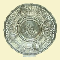 An Excellent Hanua 800 Silver Georg Roth Reticulated Display Plate