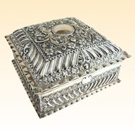 An Exquisite Antique English Sterling Silver Presentation Box Hallmarked 1900