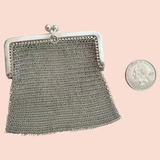 Lovely Austro-Hungarian 800 Silver Mesh Coin Purse 1901-1921
