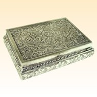 An Excellent Antique Continental 800 Silver Snuff Box