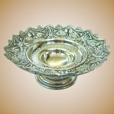 An Intricate Antique English Reticulated Sterling Sweets Tazza 1898