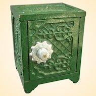 Kenton Cast Iron Savings Deposit Toy Safe Bank Circa 1900 - Works!