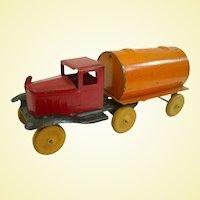 Wyandotte 1920s Toy Gasoline Tanker Truck