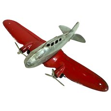 A Vintage Marx Twin Prop Toy Airplane