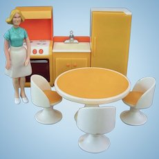 Vintage Fisher-Price Kitchen Dollhouse Set 1970s