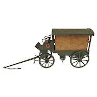 O&M Hausser Toy WWI Red Cross Ambulance Wagon