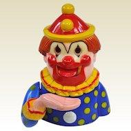 Vintage Plastic Clown Mechanical Bank Hong Kong!