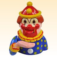 Vintage Plastic Clown Mechanical Bank Hong Kong!