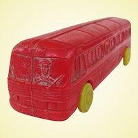 Fun Empire Plastics Blow Mold 1960s Toy Bus