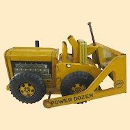 1950s Line Mar Tin Litho Power Dozer Bulldozer Toy