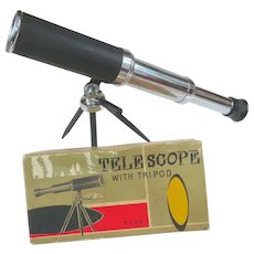 1950s Japan Toy Telescope In Original Box