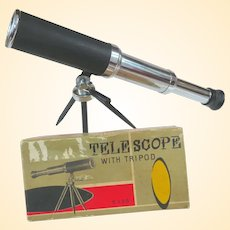 1950s Japan Toy Telescope In Original Box