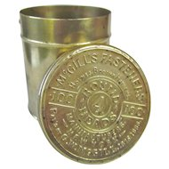 Cool Antique Brass Advertising Container McGill's Fasteners